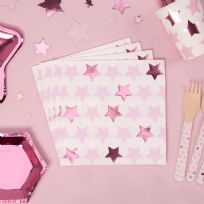 Little Stars Pink Napkins (16)
